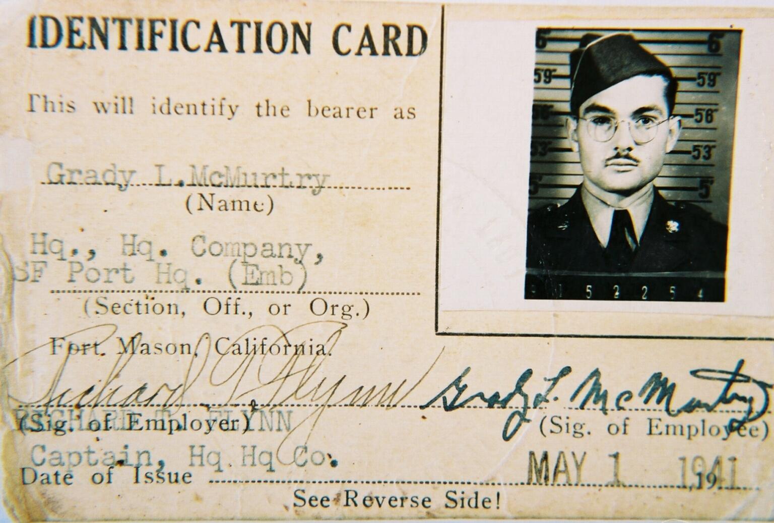 GM Military ID card 41
