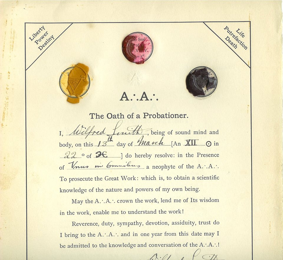 Wilford T. Smith Probationer Oath